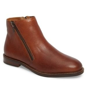 Kenneth Cole Chelsea Cognac Ankle Boots Brown 10